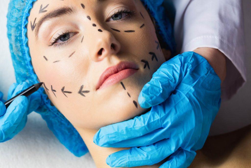 Plastic surgery facial reconstructive